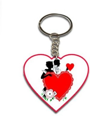 Onlineworld Heart Shape Wood -04 Key Chain
