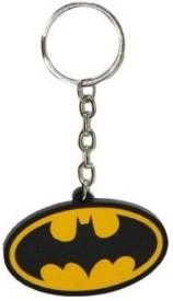 Ezone BatMan Black Yellow Rubber Key Chain