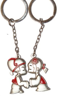 CTW Kissing Mini couple Love Heart Valentine Gift for Hin & Her Keyring Key Chain