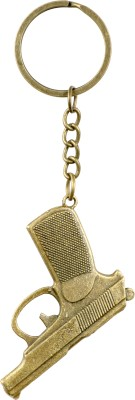 Chainz Metal Pistol 0166 Key Chain(Golden)