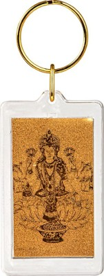 Siri Creations God Lakshmi with 24kt Gold Foil Key Chain