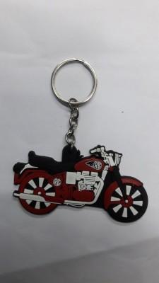 Bike World Rubber Key Chain for Royal Enfield Key Chain
