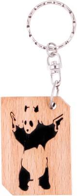 JM Panda with Gun Key Chain