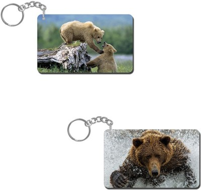 Lovely Collection Bear Couple Key Chain