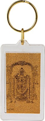 Siri Creations God Balaji with 24kt Gold Foil Key Chain