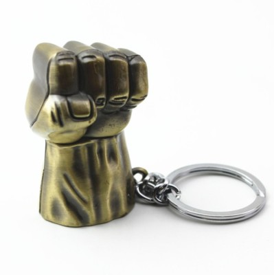 Prime Traders Hulk Fist Metal Golden Locking Key Chain