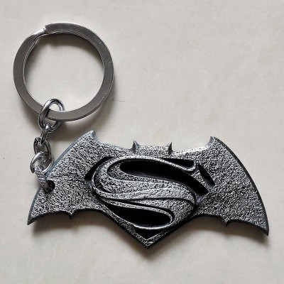 Optimus traders Batman v Superman Dawn of Justice Logo 8cm Metal Key Chain