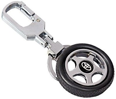 CTW Toyota Logo Premium Quality Rotating Wheel Tyre Keyring Metal Key Chain