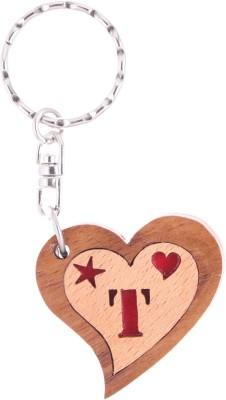 JM Alphabet T Heart Key Chain