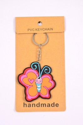 Shrisay Ventures Pink Butterfly Love Pack Of 2 Key Chain