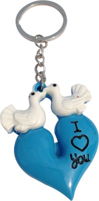 CTW Cute Love Bird Kissing Couple Heart Valentine Key Chain