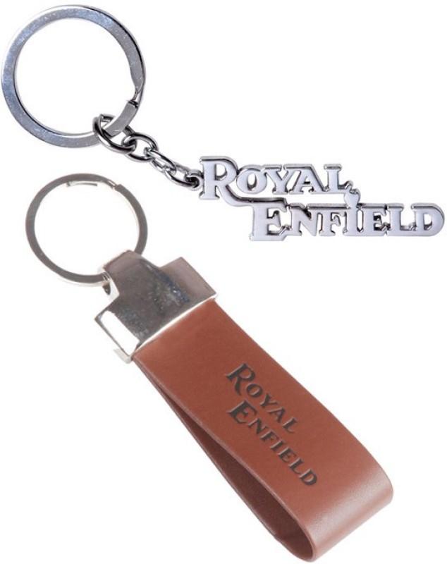 Alexus Royal Enfield Metal And Royal Enfield Leather Key Chain