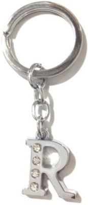 Rashi Traders Alphabet R Chrome Key Chain