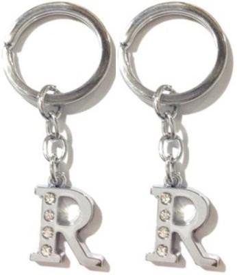 Rashi Traders 2 Alphabet R Chrome Key Chain
