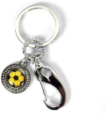 SkyWays Football Pattern in Yellow & Black Key Chain