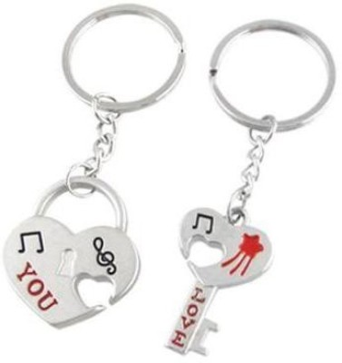 Anishop Love You Broken Heart Key Chain