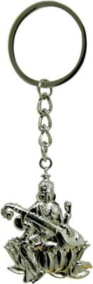 Tech Fashion Saraswati Devi Metal Key Ring Key Chain