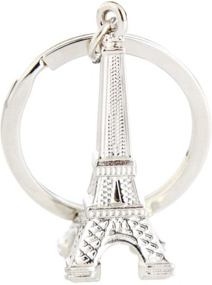 True Traders true traders silver metal Eiffel tower keychain Key Chain