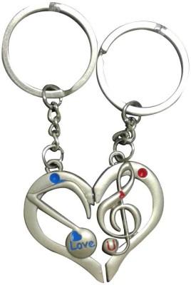 ShopeGift Love You Music Couple Key Chain