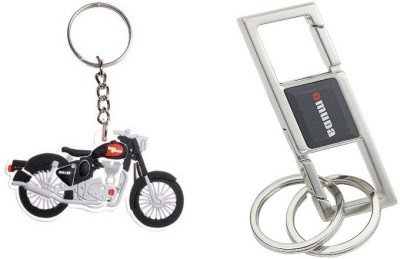 i-gadgets Pack of Omuda 3676 and Royal Enfield Bike Key Chain