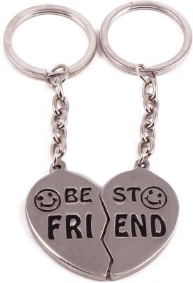 VeeVi Smiley Best Friend Double Heart Key Chain