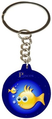 Onlineworld Zodiac-Round-Wood-Pisces-01 Carabiner