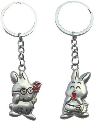 CTW Cute Rabbit Proposing Couple Valentine Gift Metal Key Chain