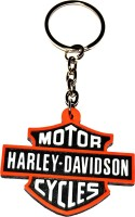 Tech Fashion Harley Davidson Bullet Rubber Red White Black Metal Keyring accessories for Car Bike House Office Key Holder Best Quality Gift -TF-454 Lo