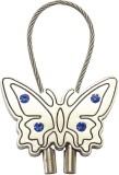Silver Swan Butterfly Shape Key Chain (M...