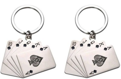 New Pinch Playing Card Metal(pack of 2) Key Chain