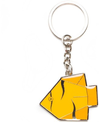 Daffodils The Yellow Fish Key Chain Locking Carabiner