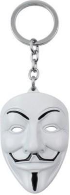 Optimus traders Vendetta Mask White Premium Metal Key Chain