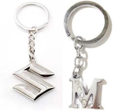 Rashi Traders Maruti Suzuki & Alphabet N Key Chain