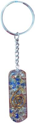 Aaradhi Divya Mantra Orgone Energy Cylinder 7 Chakra Key Chain
