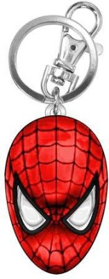 Marvel Official Spider-Man Head Colored Pewter Key Chain