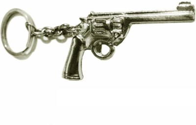 Tech Fashion Gun Pistol Key Chain(Silver)