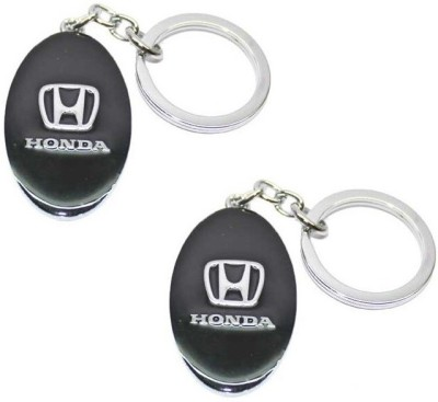 Ezone Honda Cars Metal_Pack of 2 Key Chain