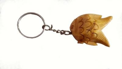JaipurCraft wooden fish Key Chain