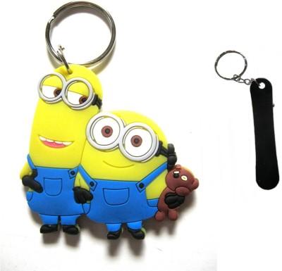 Optimum Deal Cute Despicable Me Minion Figure(M13) Double Sided Rubber Key Chain