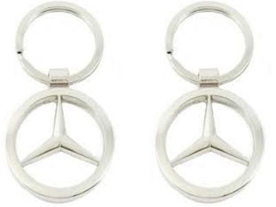 Singh Xpress Key Chain- Mercedes Logo(Pack Of 2) Key Chain