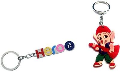 Ezone Hero Metal & Rubber Ganesh Key Chain Key Chain
