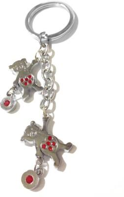 Tech Fashion Two Teddy Bear Heart Locking Key Chain