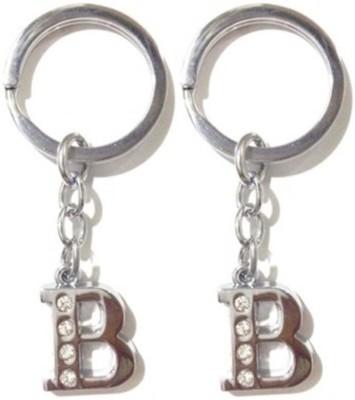 Rashi Traders 2 Alphabet B Chrome Key Chain