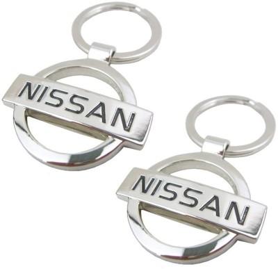 Indiashopers Nissan Metallic Ring (Pack Of 2) Key Chain