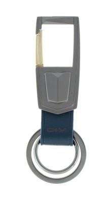 VeeVi OM Royal Blue Leather Hook Key Chain Locking Carabiner