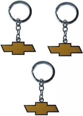 Indiashopers Chevrolet Metallic Ring (Pack of 3) Key Chain