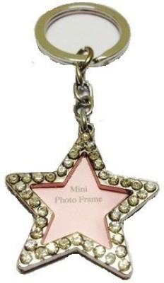 Ezone Look Star Shaped Photo Frame Key Chain Carabiner