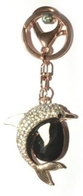 Odisha Bazaar Handbag Buckle Charms Accessories White Lucky Dolphin Locking Key Chain