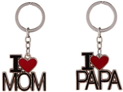 99DailyDeals ILve Mom Dad Combo Keychain Key Chain