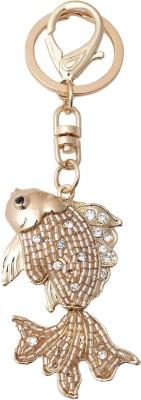 Super Drool Gold Crystal Locking Key Chain